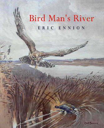 Dust jacket design for Bird Man's River by Eric Ennion