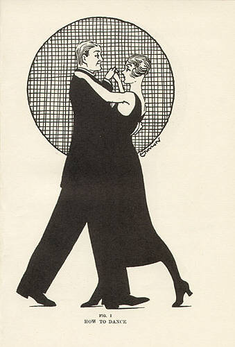 How to dance. Illustration by Eric Ennion from Ball-room Dancing.