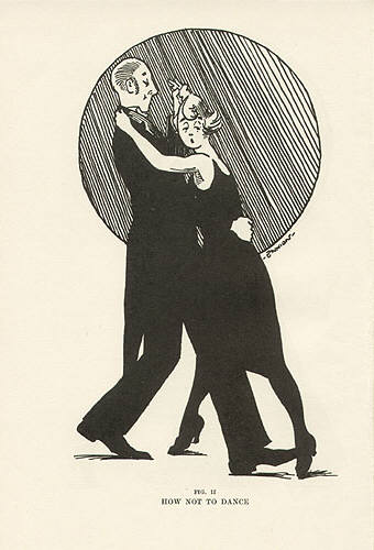 How not to dance. Illustration by Eric Ennion from Ball-room Dancing.